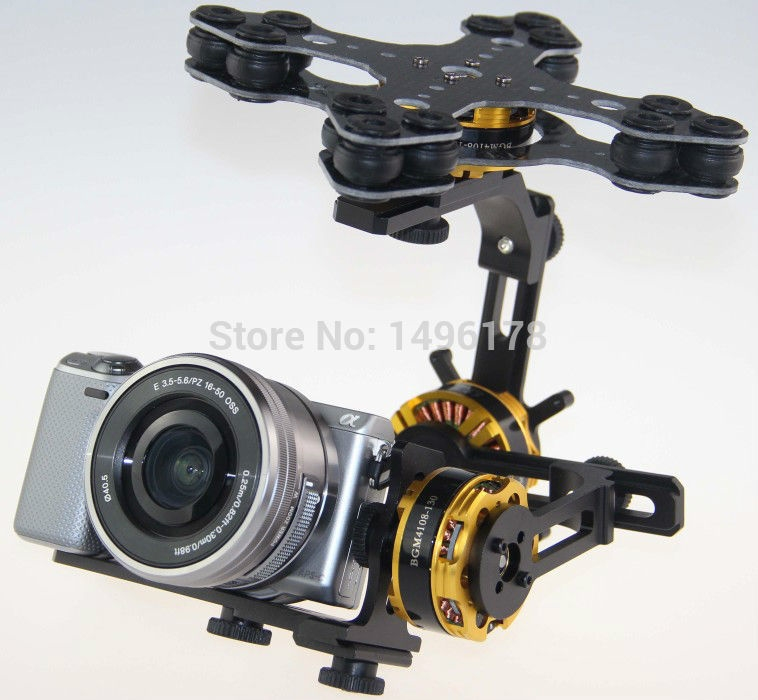 226.38$  Buy now - http://ali4hk.worldwells.pw/go.php?t=32227114816 - DYS 3 Axis Gimbal Control Mount Kit + 3pcs 4108 Brushless Motor For Sony NEX ILDC Camera Photography FPV 226.38$