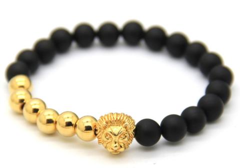 Sahara Gold & Matte Black Bracelet