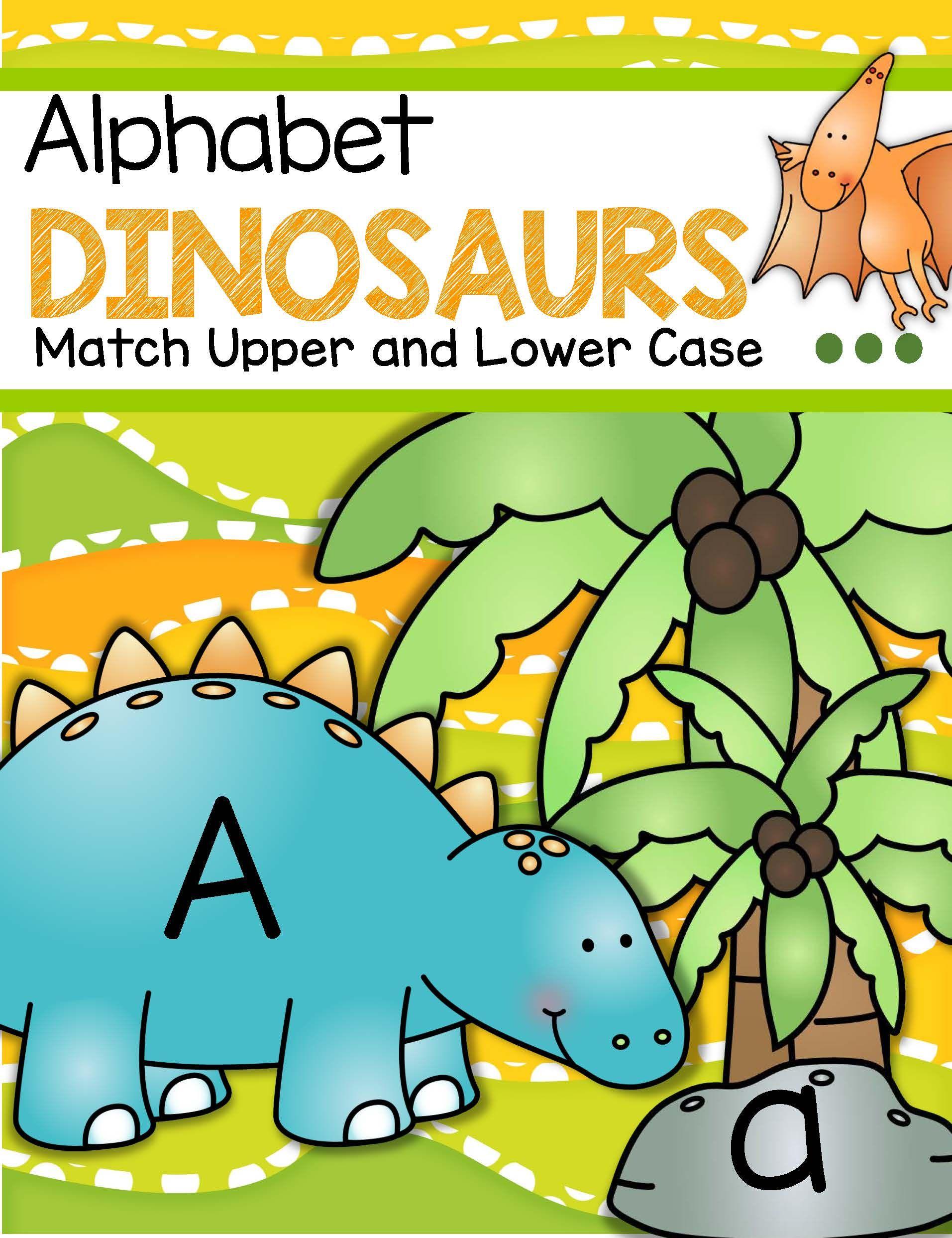 Dinosaurs Alphabet Upper And Lower Case Matching Center