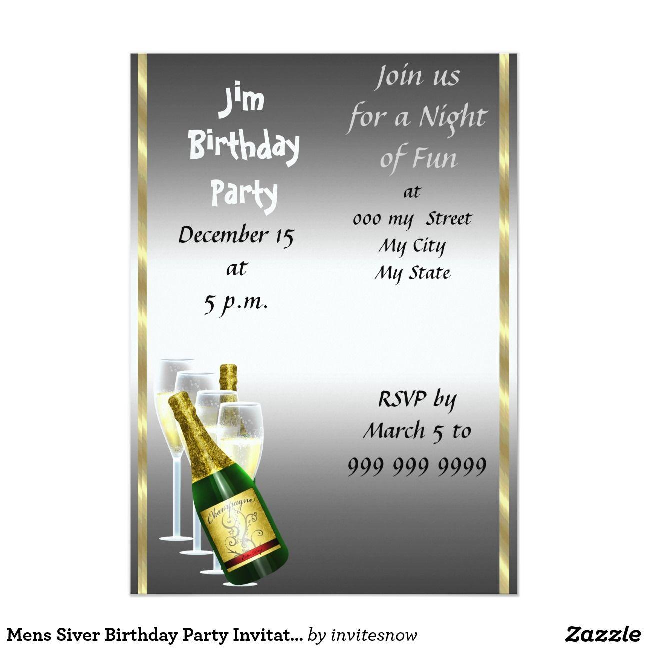 Imajenes De Invitacion A Celebrar El Cumpleaños Para Hombre