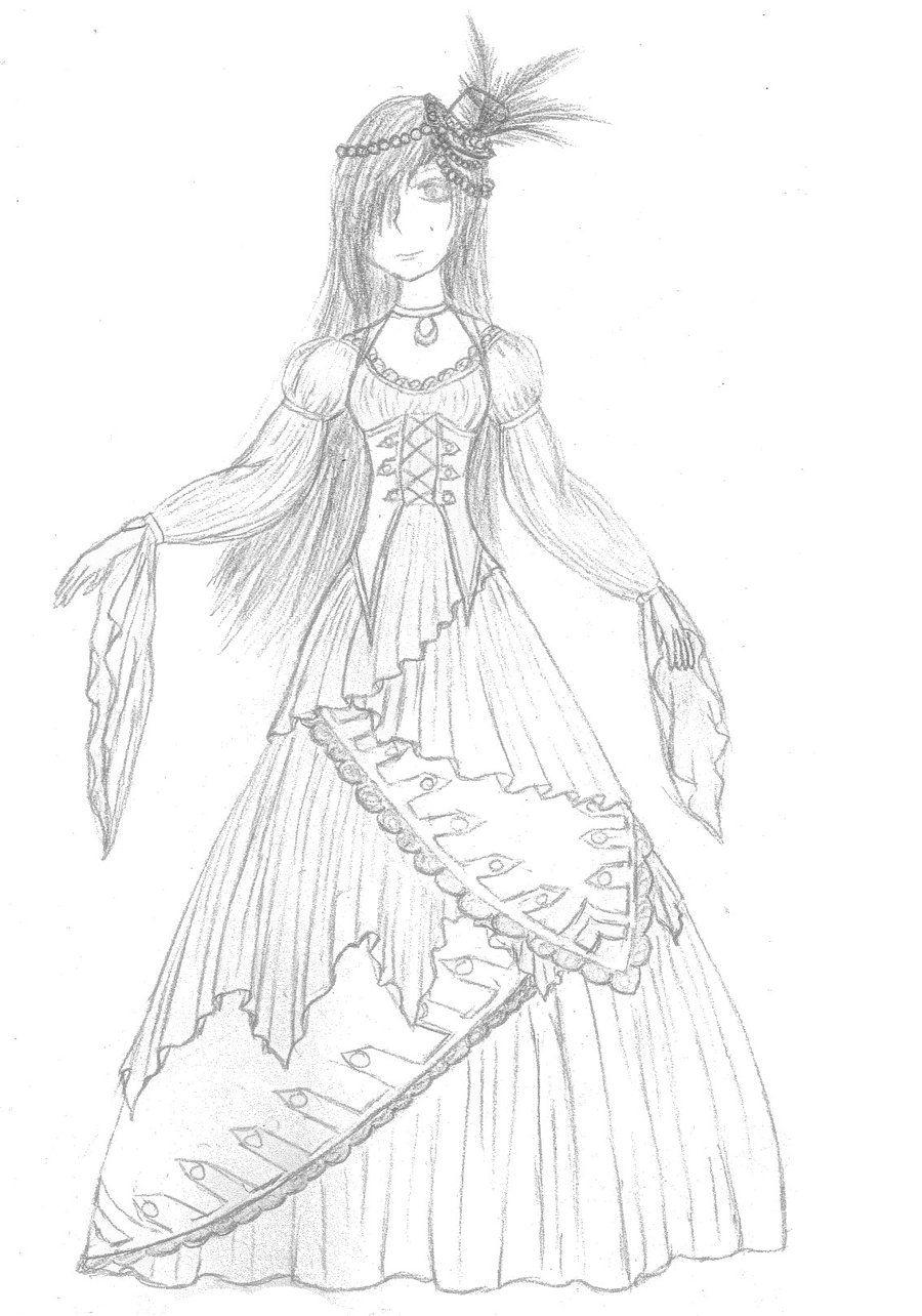 pirate wedding dresses | Pirate wedding dress -sketch- by ...