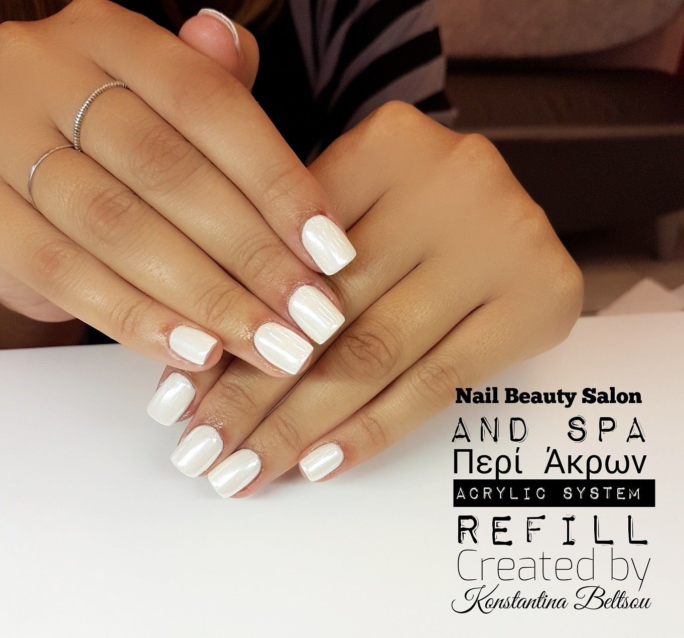 Short Square White Nails | Best Nail Designs 2018