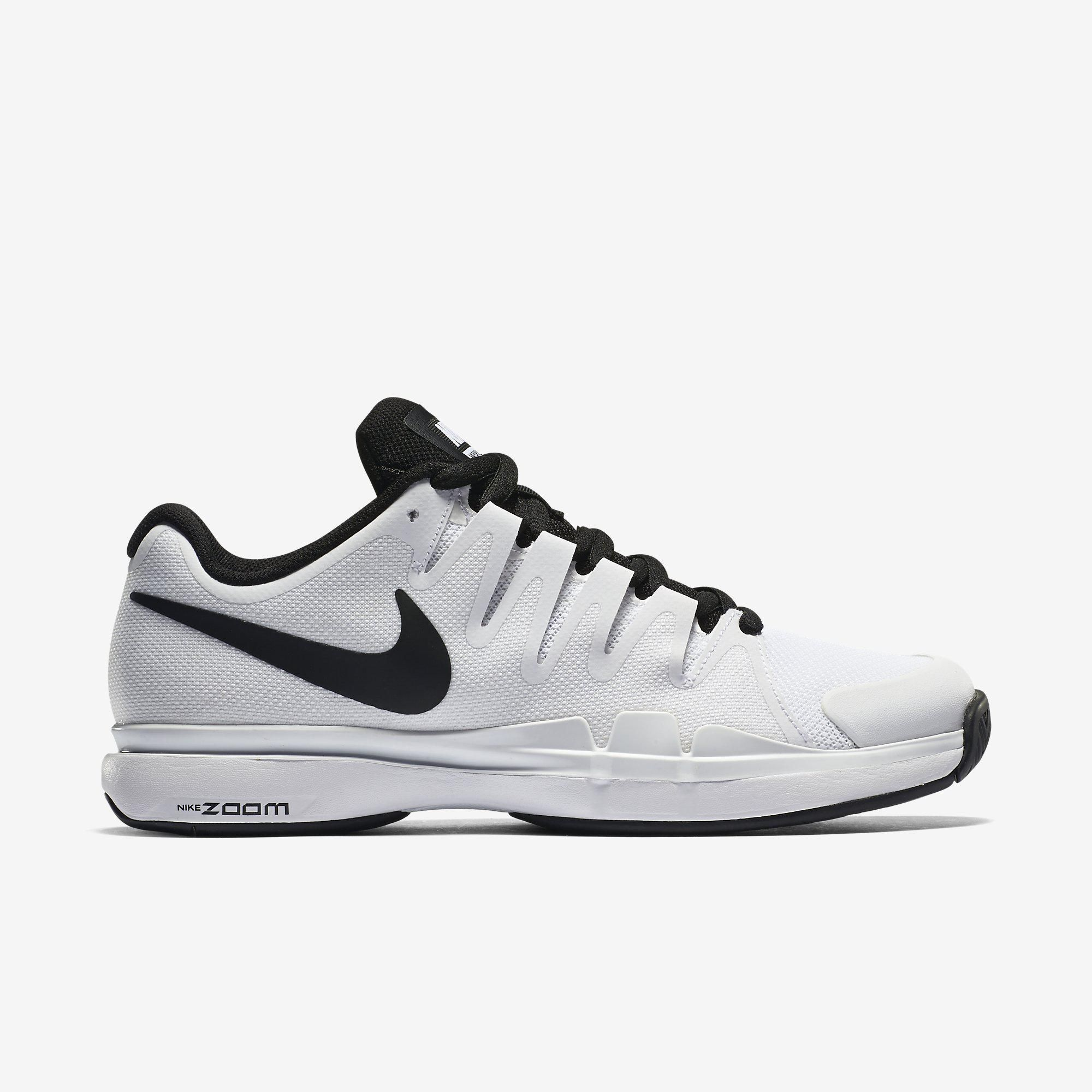 Nike Mens Zoom Vapor 9.5 Tour Tennis Shoes - White/Black