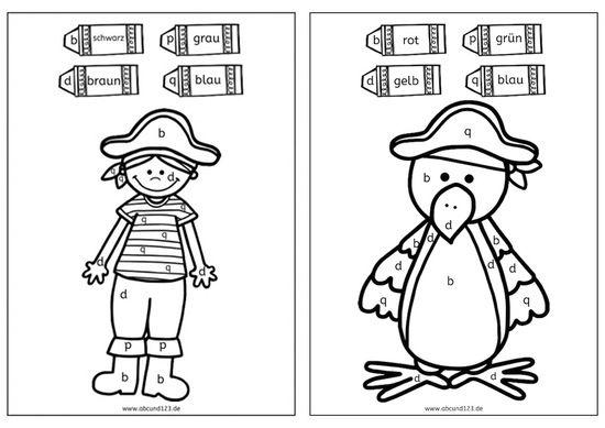 Piraten Malen Nach Buchstaben Abcund123 Piraten Schulideen Deutsch Lernen