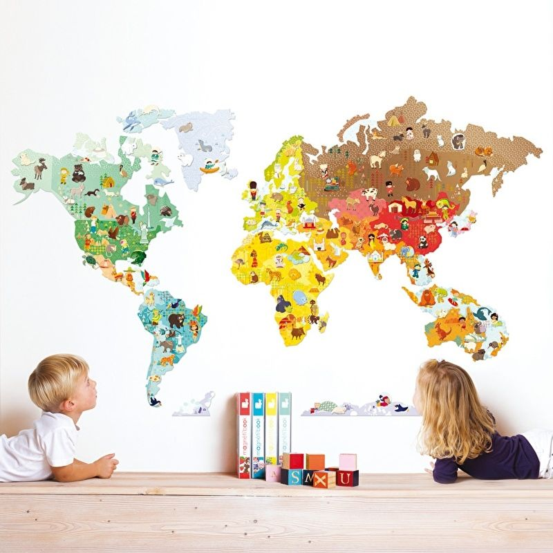 Colored Wallpapers For Childrenu0027s Room With Fun Motifs u2013 Fresh - fresh interactive world map desktop background