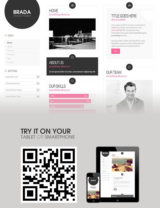 Brada Innovative Wordpress Template (Creative) - Theme Samurai ...