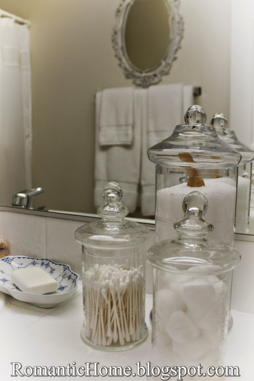 my romantic home my master bathroom  show and tell