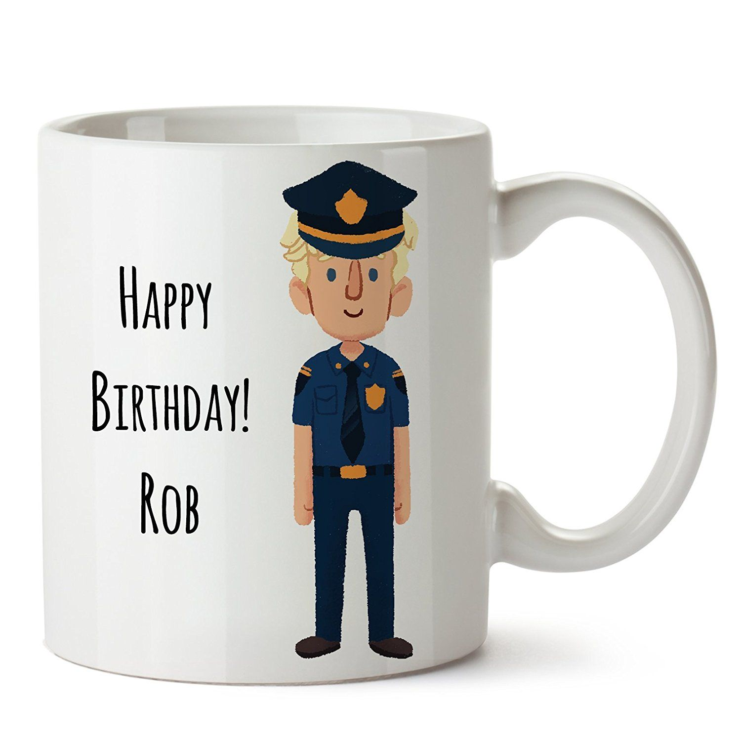 Personalized Police Officer Coffee Mug, Create a Cute and