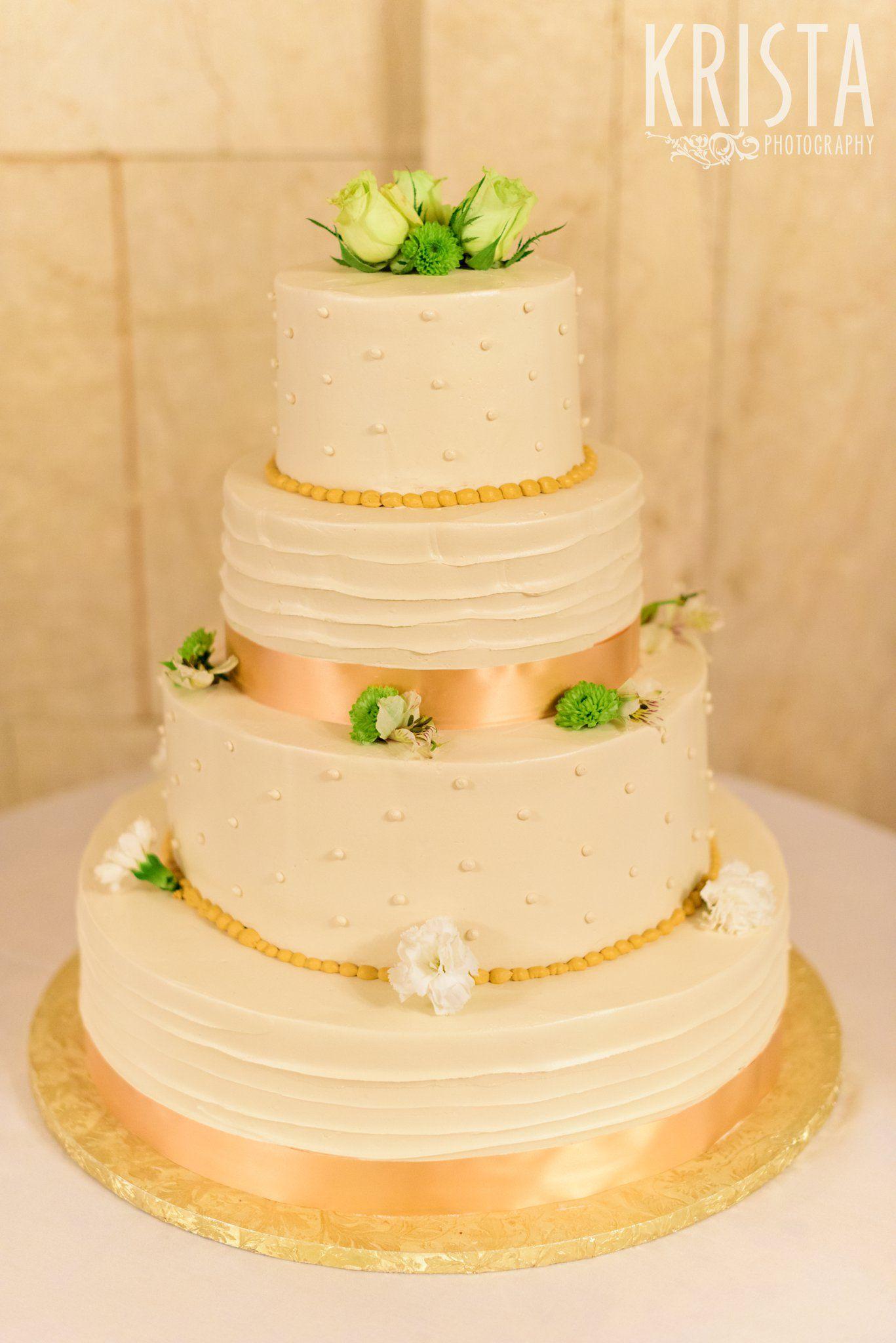 Simple, elegant wedding Cake. Wang Theater Wedding © Krista ...