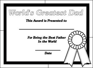 Printable Certificates for Dads Printable certificates Dads and