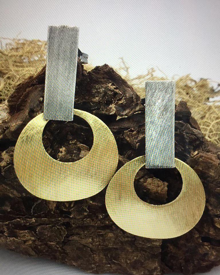 0f6104e105cf Aros peltre bañados en oro