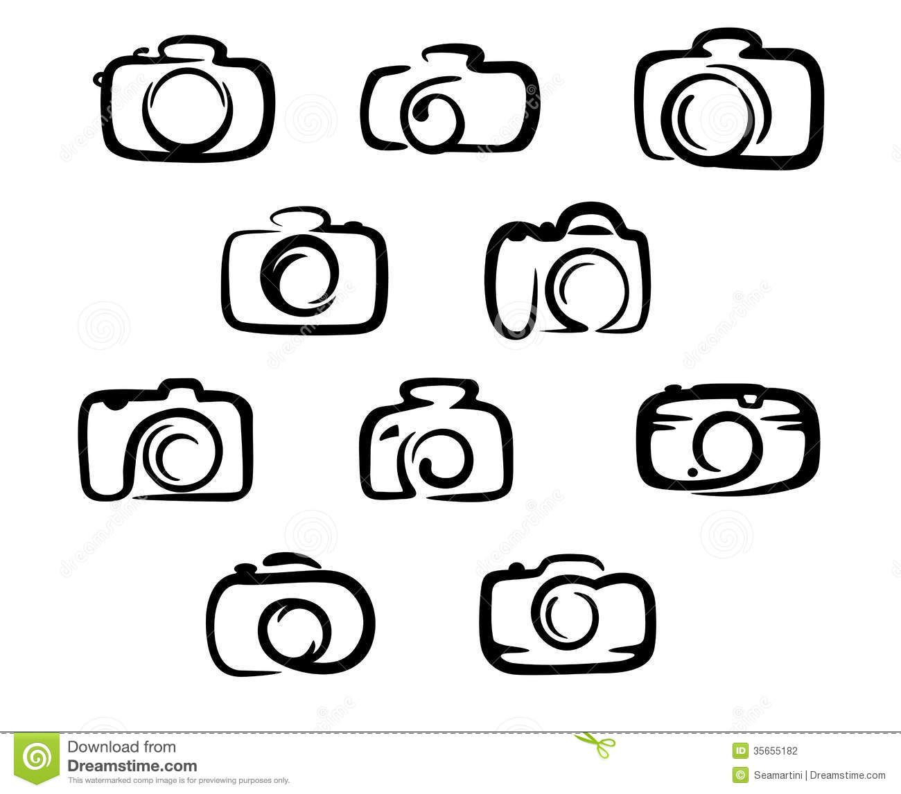 Camera Icons Set Stock Photography Image 35655182 Logotipy