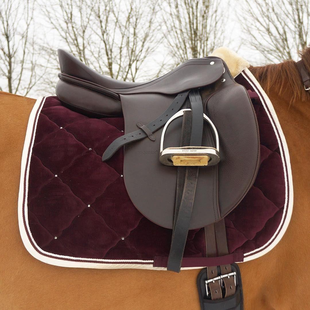 Stunning deep red saddle cloth