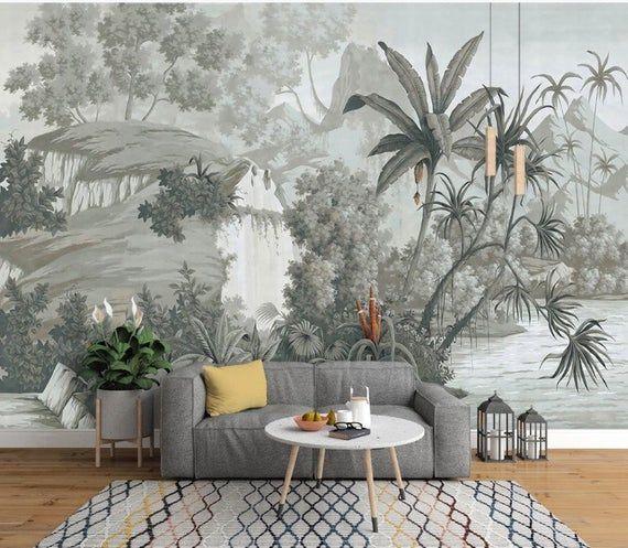 Vintage Style Forest Landscape Nature Wallpaper Self