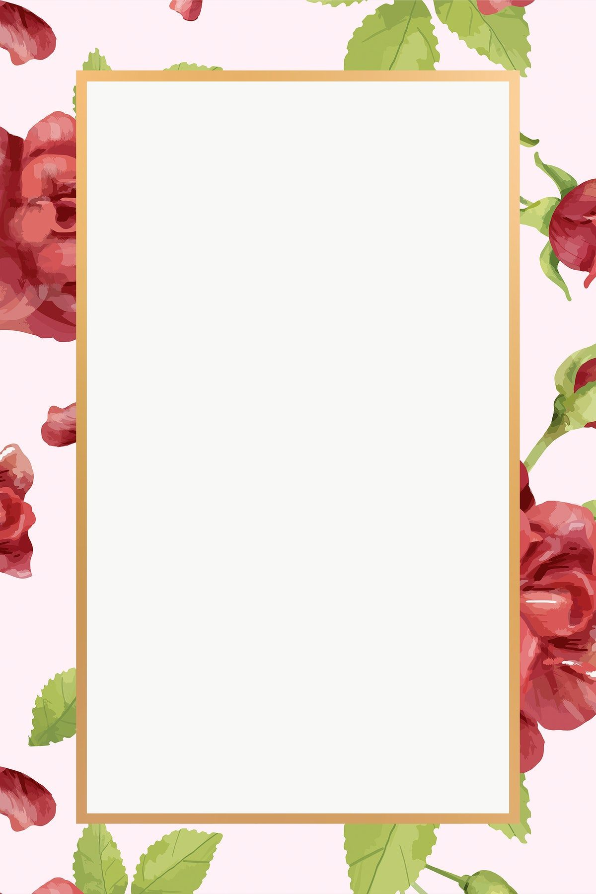 Gold Rectangle Rose Flower Frame Design Element Free Image By Rawpixel Com In 2020 Flower Frame Design Element Frame Design