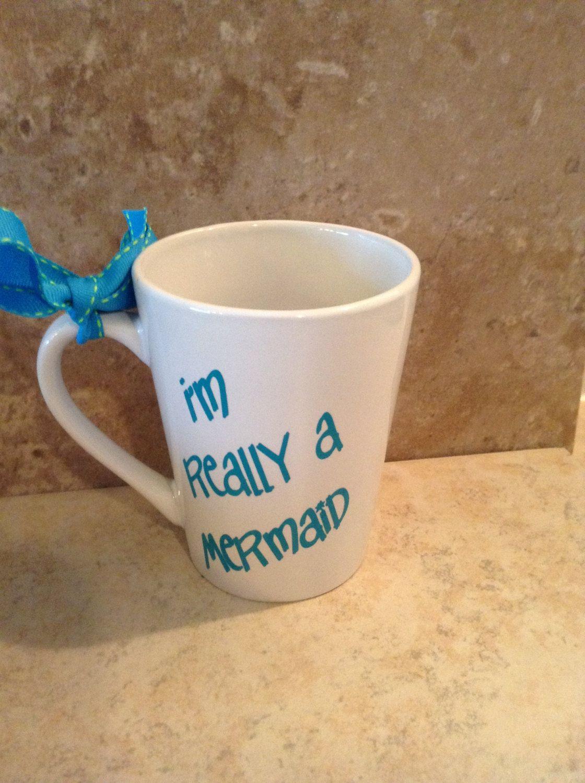I'M Really A Mermaid Coffee mug,Mermaid Gift,Girls Rock