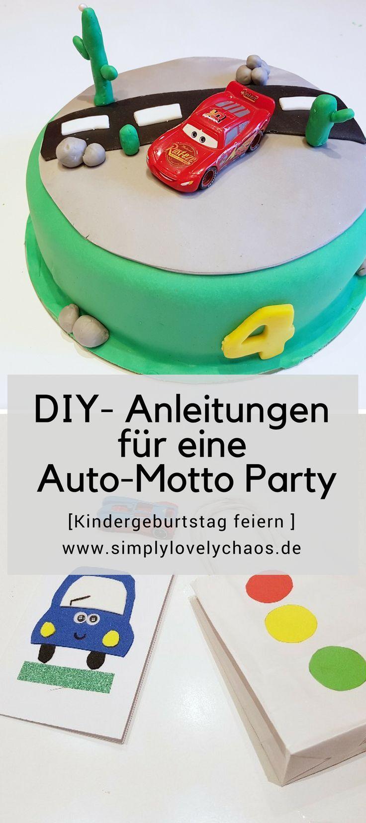 Auto Mottoparty   Kindergeburtstag Feiern Mit Anleitung Für Einladungen |  Pinterest | Einladungskarten Basteln, Mottoparty Und Tüte