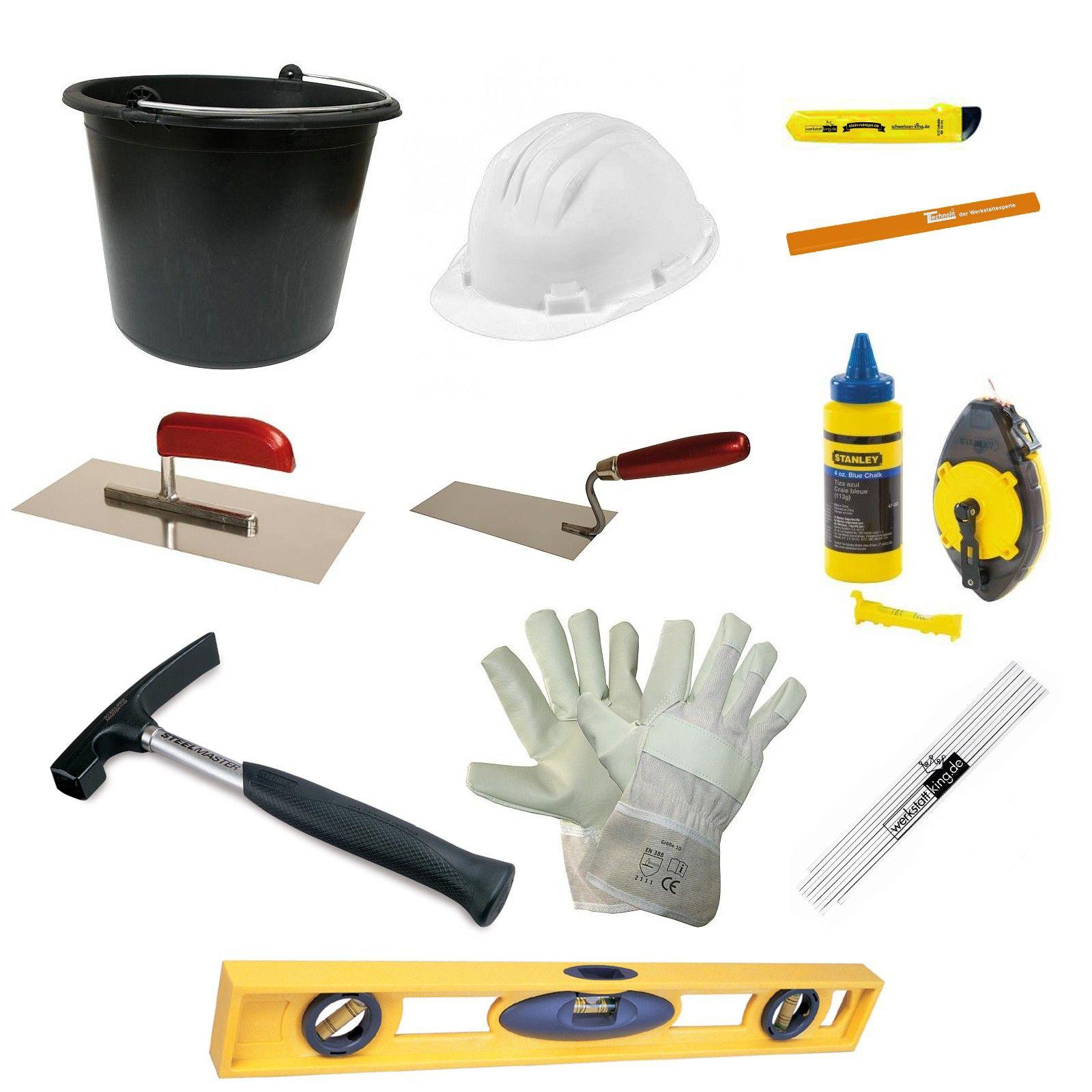 Bau Starter Set 12 Teilig Inklusive Baueimer Werkzeug Zubehor