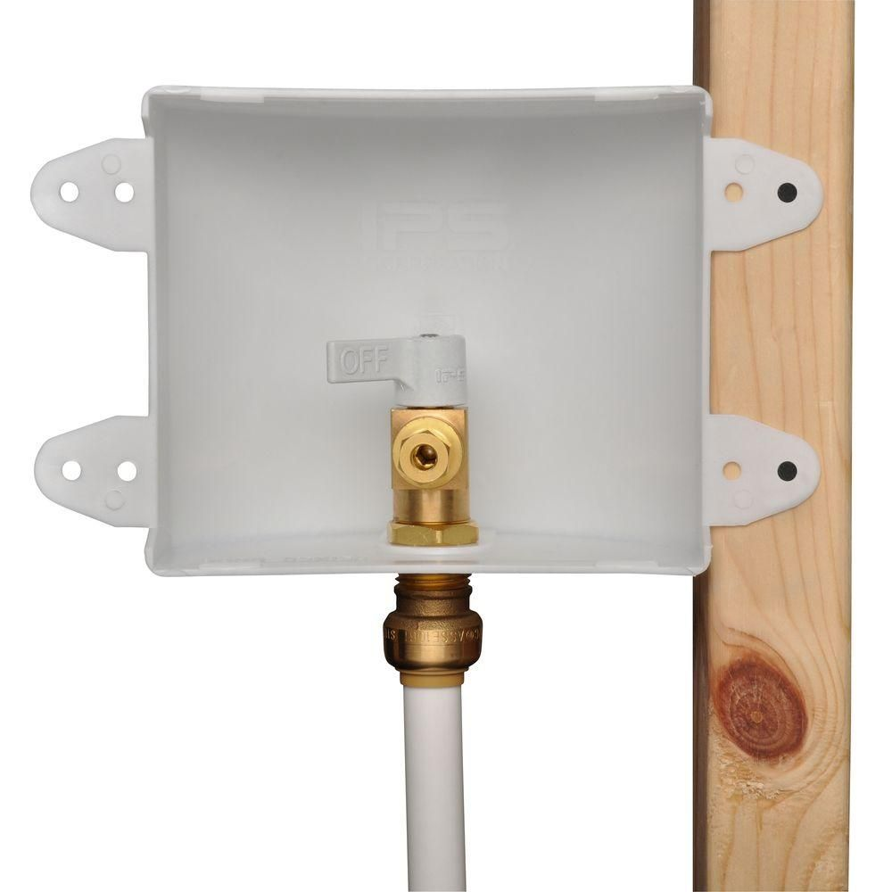 Sharkbite 1 2 In Push To Connect Brass Ice Maker Outlet Box 25032 The Home Depot Ice Maker Refrigerator Ice Maker Protecting Your Home