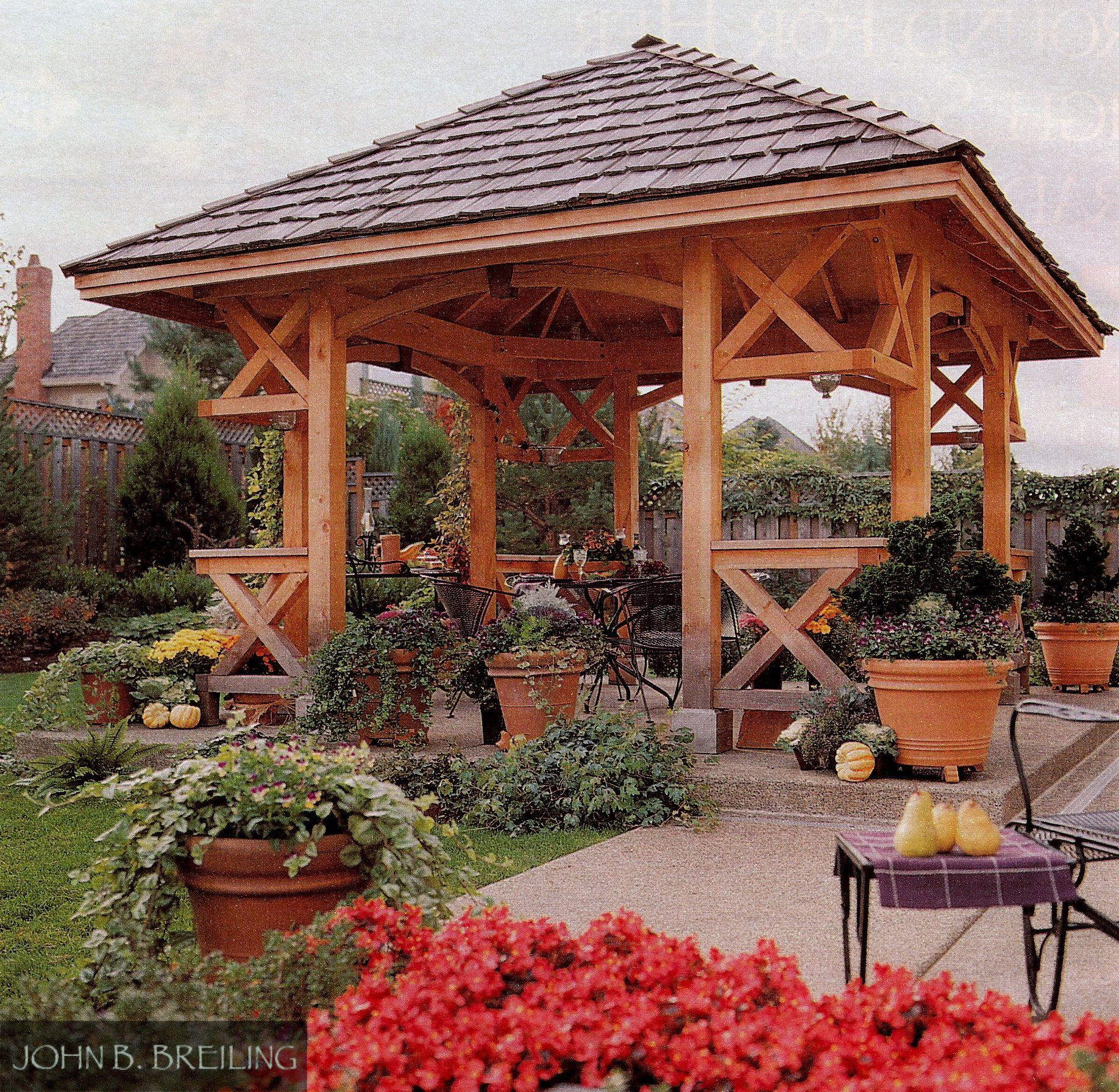Delightful Outdoor Dining Gazebo / Pavillion In Cedar Mill Oregon, By John Breiling  Deckop.com