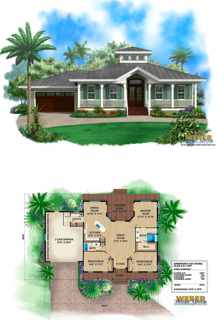 Small Old Florida Cracker Style House Plan With Metal Roof