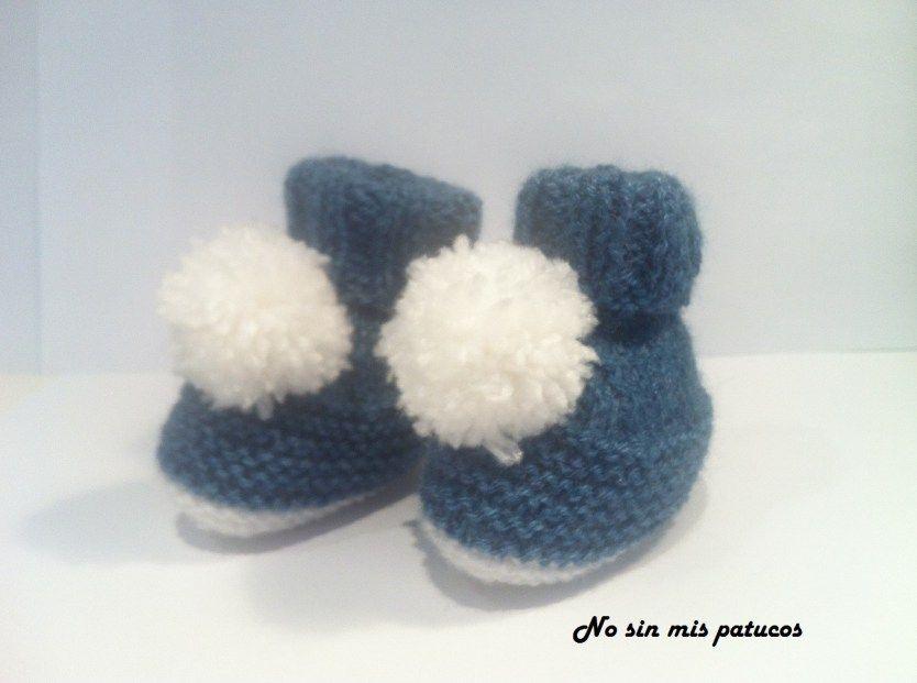 Patuco pompón. | cositas de bebe | Pinterest | Cosas de bebe ...