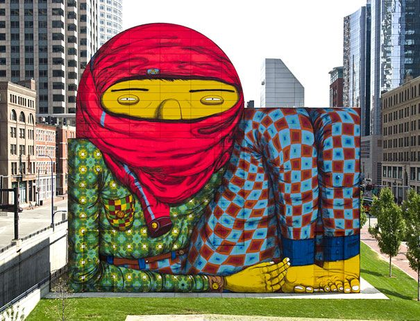 arte urbano - murales - pijama full street art Pinterest - murales con fotos