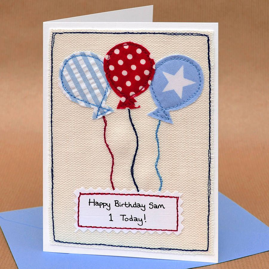 Balloons Handmade Boys Birthday Card Birthdays Boys And Boy - Handmade childrens birthday cards