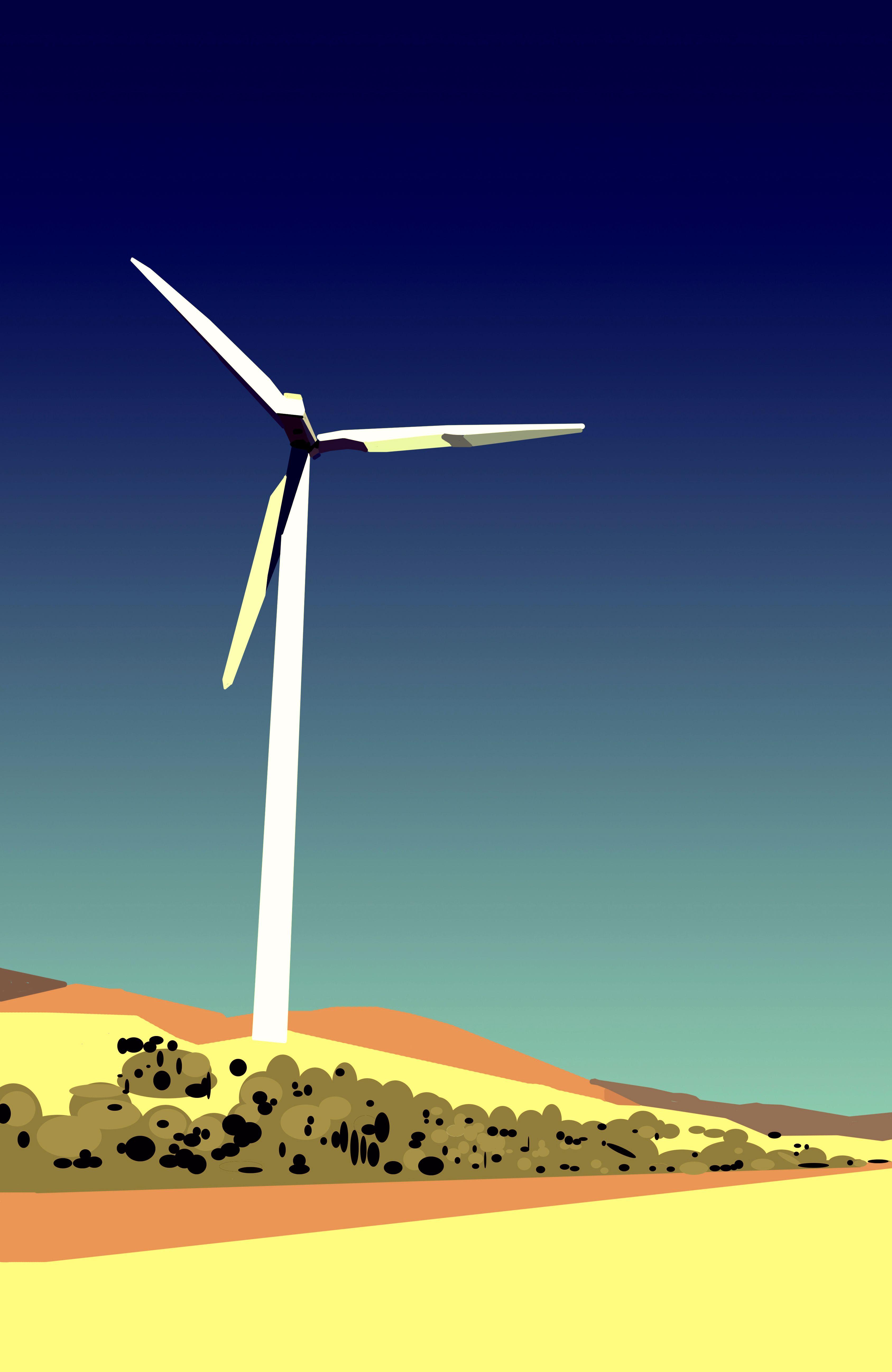 windmill by Kelli Miller