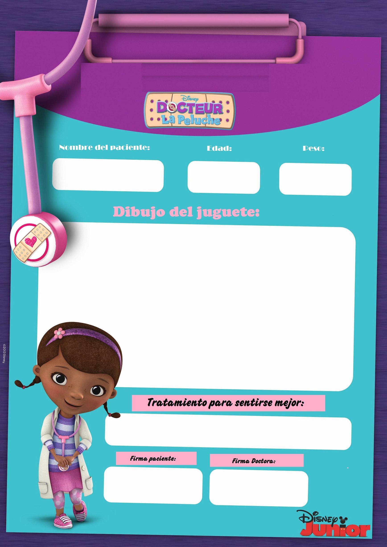 doctora juguetes invitaciones para imprimir gratis  Buscar con