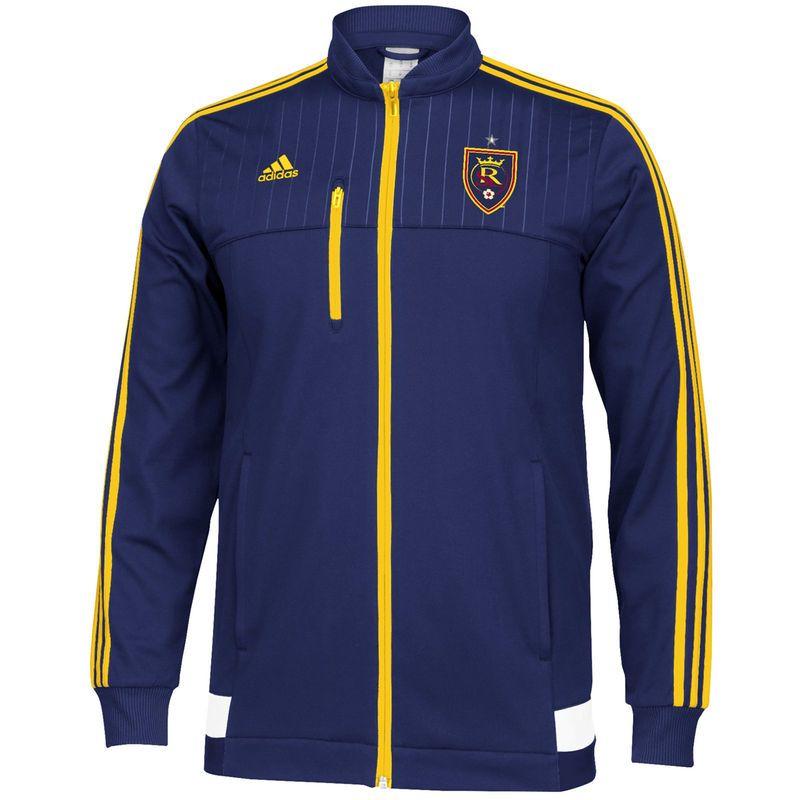Real Salt Lake adidas Anthem Full Zip Track Jacket Navy