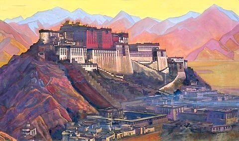 Tibet stronghold (Potala) Nicholas Roerich