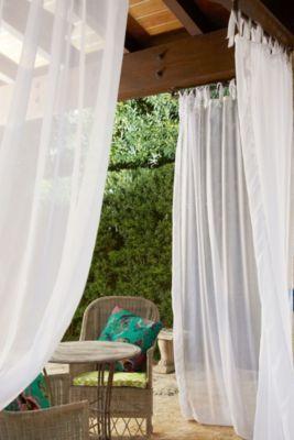 Summer Porch Sheer   Indoor Outdoor Sheer Curtain Panels, Window Coverings  | Soft Surroundings