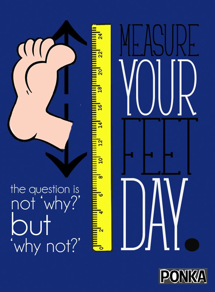 Jan 23rd is 'Measure Your Feet Day'. No reason, just do it.