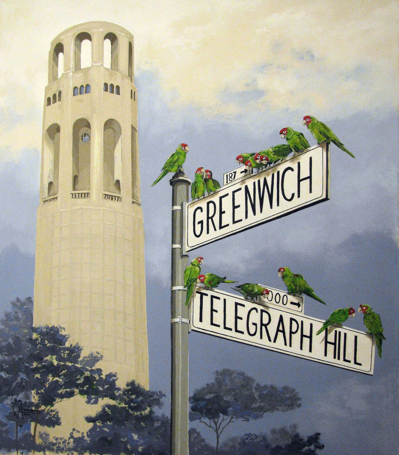 Art Places In San Francisco: The Wild Parrots Of Telegraph Hill, Coit Tower, San