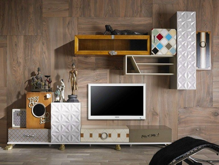 Sectional TV wall system TETRIS Tetris Collection by Lola Glamour ...