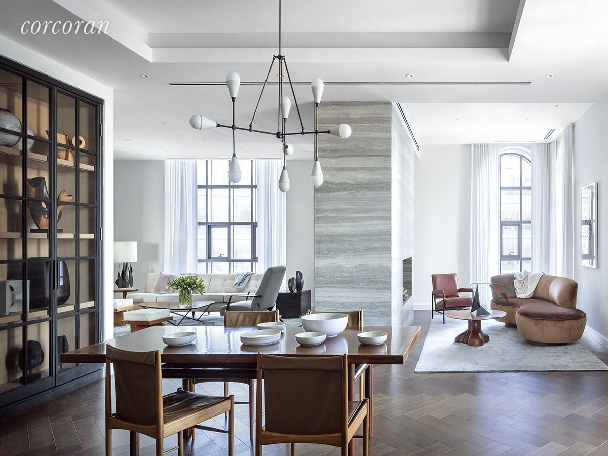 100 BARCLAY ST, Penthouse, Living Room | Architectural Elements ...