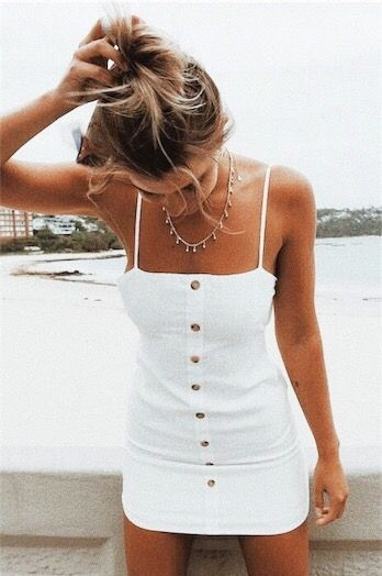 Photo of UO Button-Down Strappy Back Linen Dress
