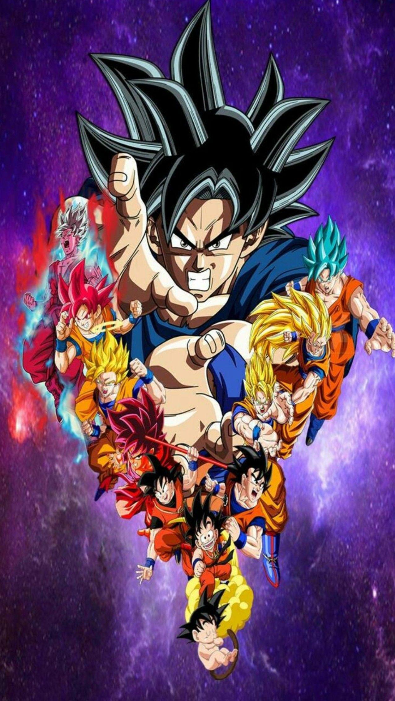 Goku All Forms Dragon Ball Super Anime Dragon Ball Super