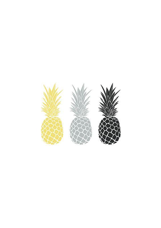 Affiche Minimaliste Ananas Party Produit Numérique Wall