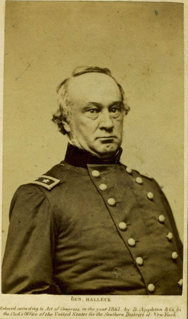 Civil War Cdv General Henry Halleck Civil War Generals Civil War Photos American Civil War