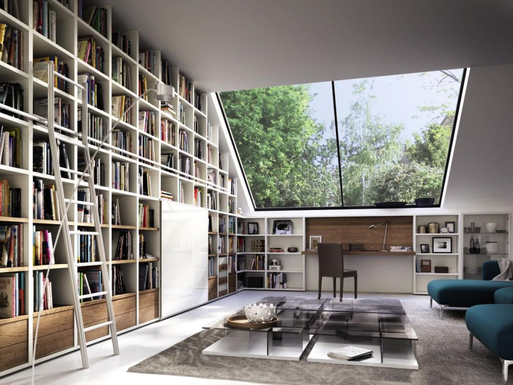 Modernes Innenarchitektur F R Luxush User Luxe Incroyable Meuble  # Meuble Tv Salon Bibliotheque