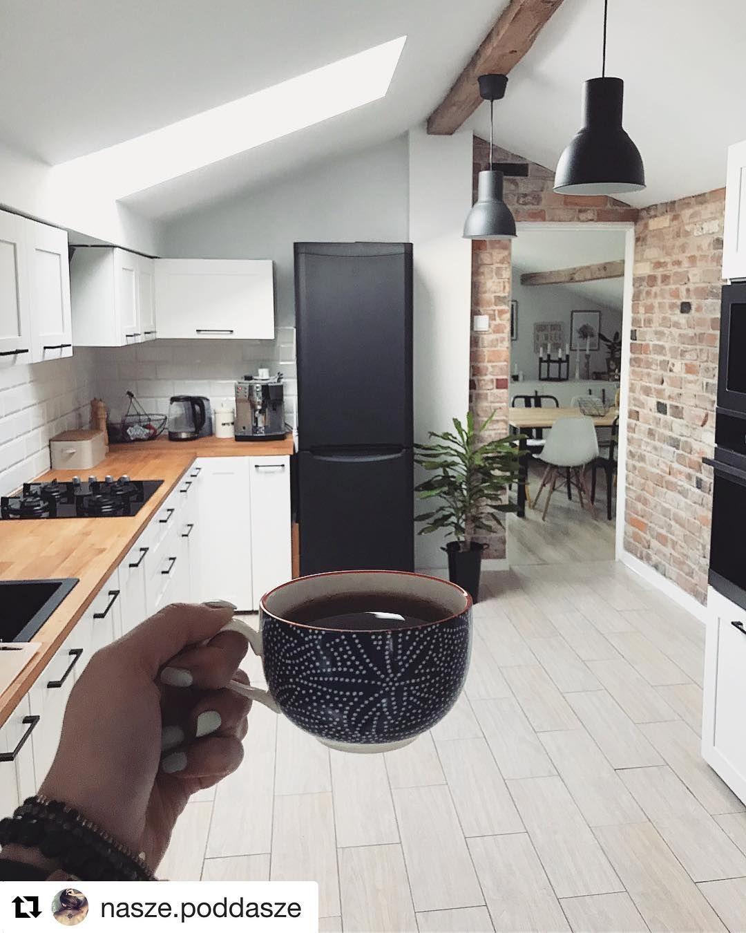 Troche Sie Pozmienialo W Kuchni Nasze Poddasze Homebook Kitchen Kitchendesign Interiordesign Interior Inte Rustik Mutfak Mutfak Yenileme Mutfak