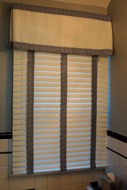 Adding Decorative Trim Over The Top Of Blinds Just Glue It To The