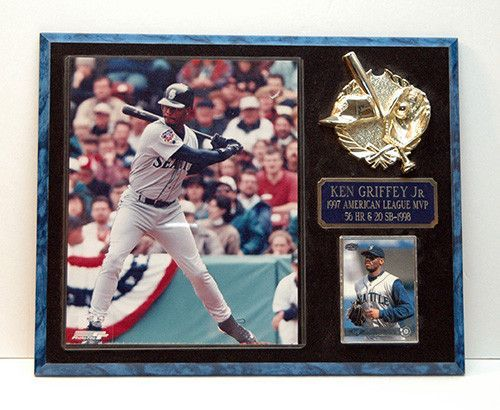 7fb30fece5 Ken Griffey Jr 1997 American League MVP Seattle Mariners Plaque with Photo  and Card