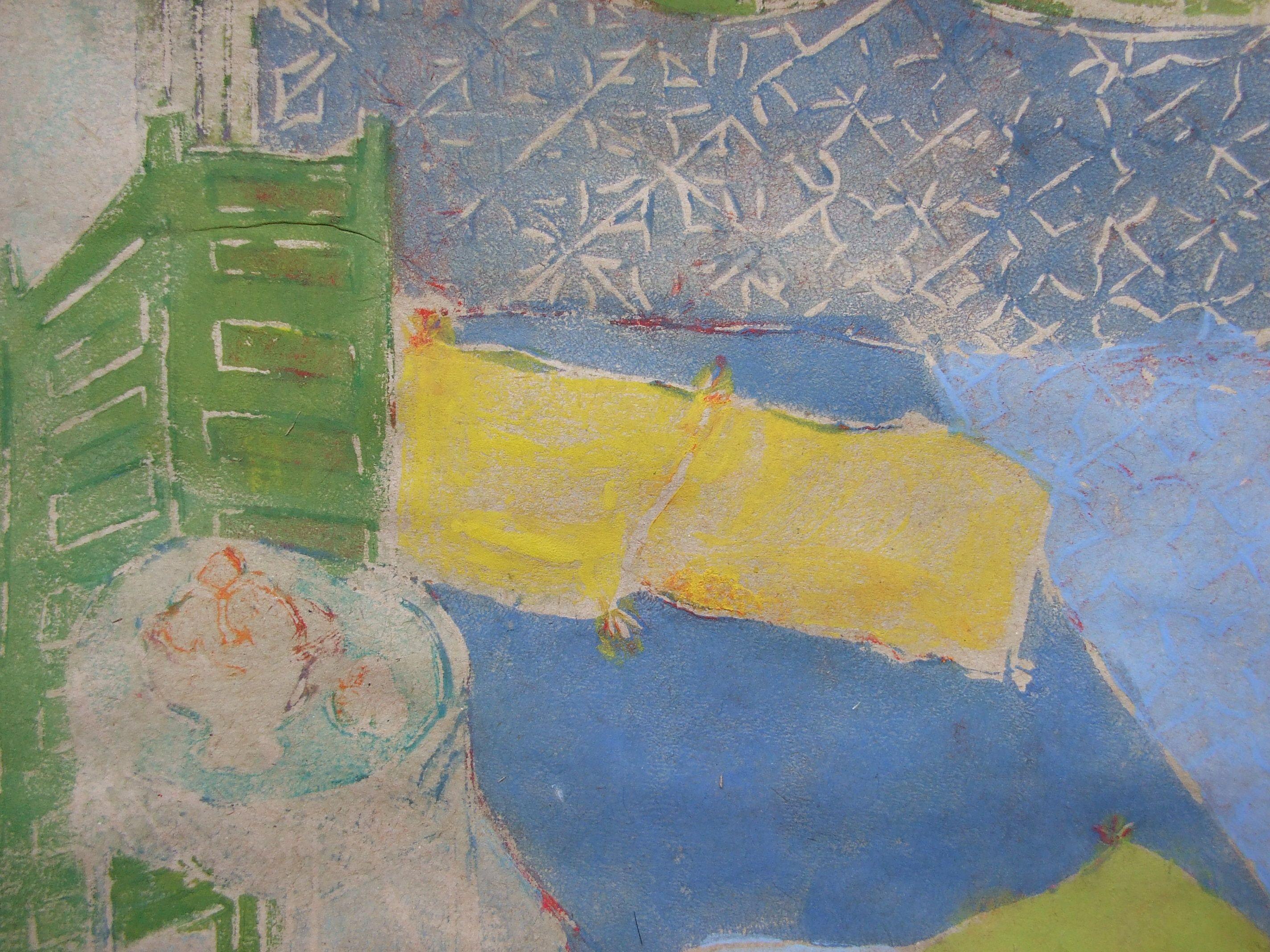 Rendez Vous Dans L Orangerie Cette Peinture Tempera Et Aquarelle Fait Partie D Un Ensemble Expose De Vingt Rendez Vous Peints Peinture Peintre Peindre