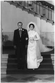 Lynda Byrd Johnson and her father, President Lyndon Baines Johnson