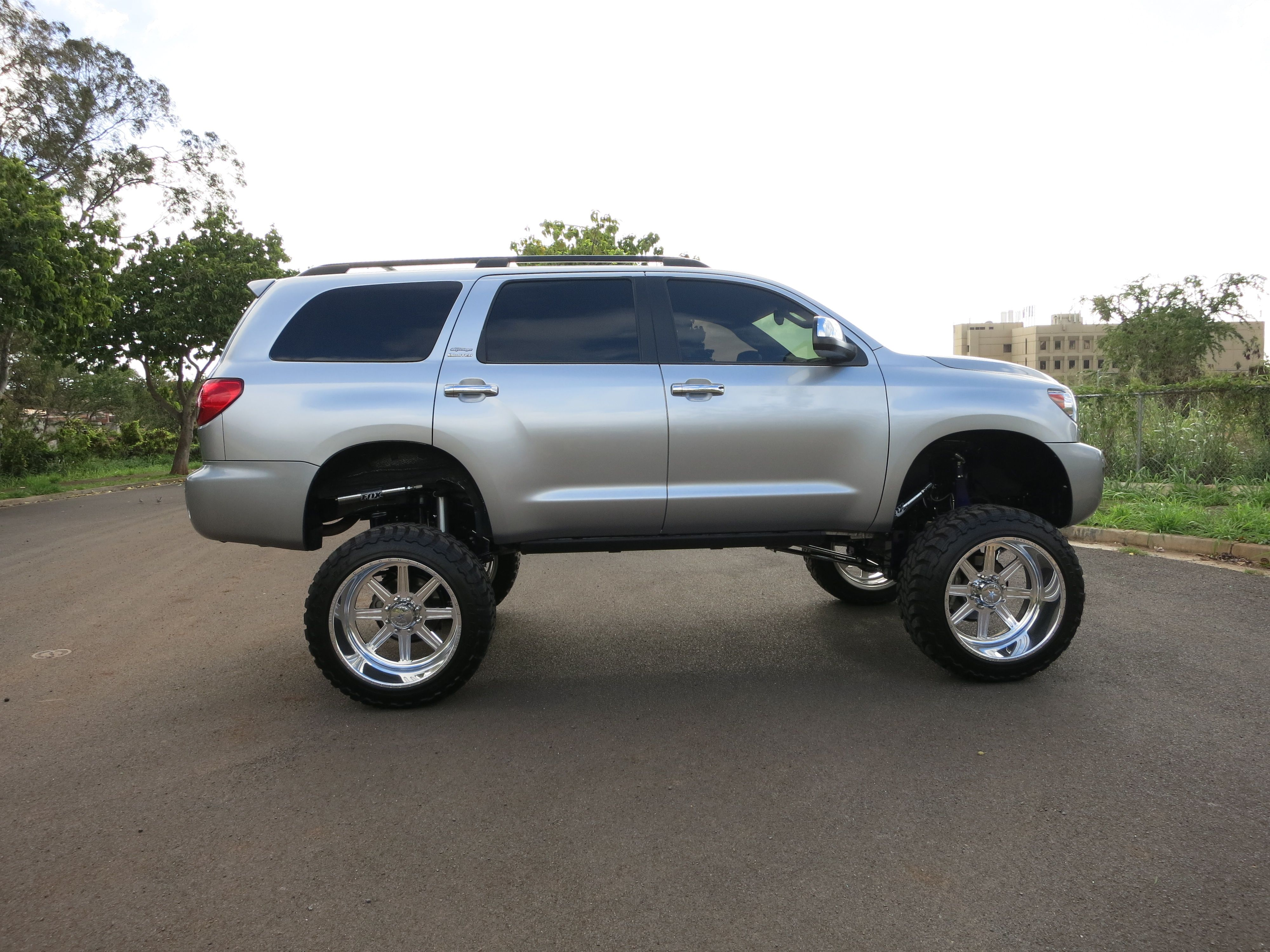 Ready For A Surprise Check Our New Toyota Sequoia 12 Lift Kit Off Road White