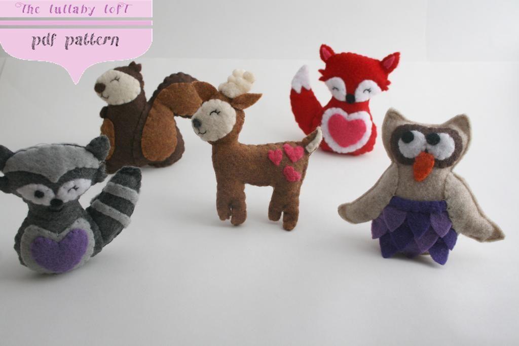 Sewing: Woodland Baby Mobile: Fox, Raccoon, Deer