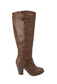 Faux Leather Knee High Boots from. Forever21 $39,80